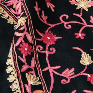 Kasu Emporium - Embroidered Wool Kashmiri Shawl