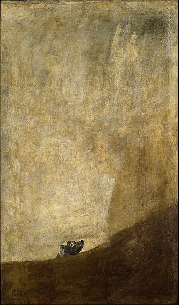 Goya, Dog Engulfed by Sand