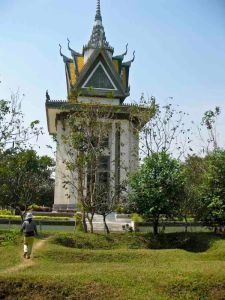 Choeung Ek Killing Fields and the Memorial Stupa