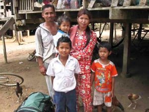 A trekking guide and his family in Chi Phat
