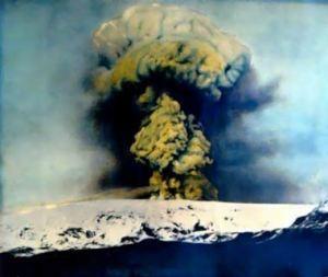 Katla Volcano erupting in 1918 (public domain)