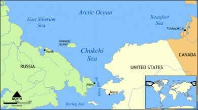 Lcation map Wrangel Island